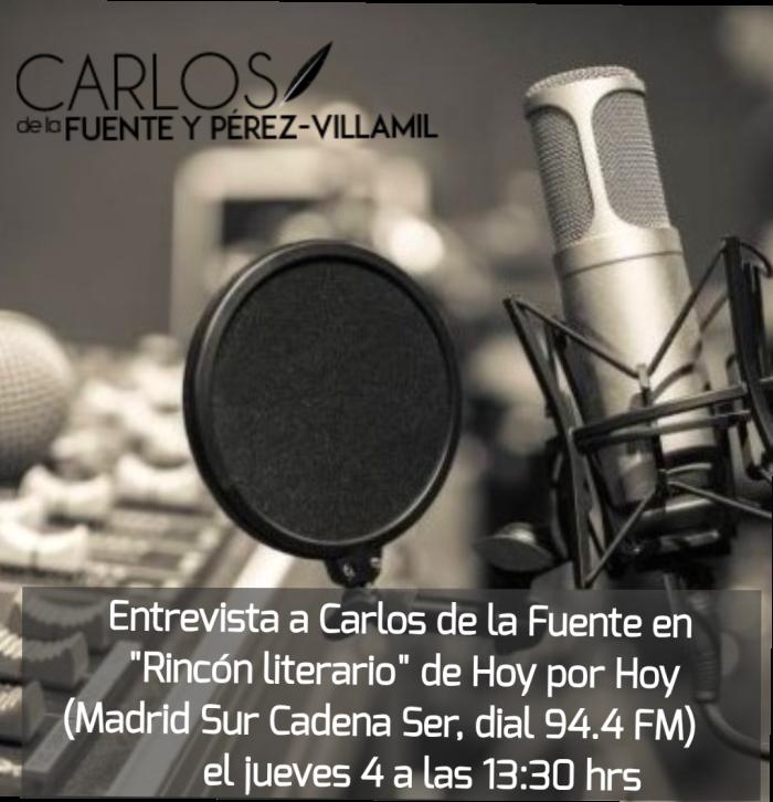 Entrevista en «Rincón literario» de Hoy por Hoy (Cadena Ser)